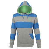 Lonsdale Striped Hoody Mens Grey/Marina