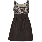 Max C London Satin Dress Ladies Black
