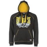 Everlast Raglan Hoody Mens Black/Yellow