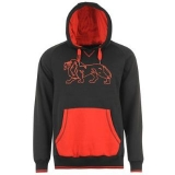 Lonsdale LL Hoody Mens Black/Red
