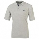 Lonsdale Small Lion Polo Shirt Mens Grey