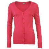 Miss Fiori Essential Cardigan Ladies Pink