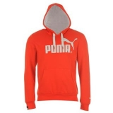 Puma Logo Hoody Mens Red