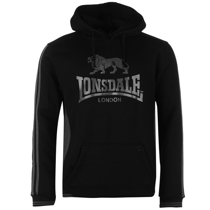 Lonsdale OTH Hoody Mens Black/Charc