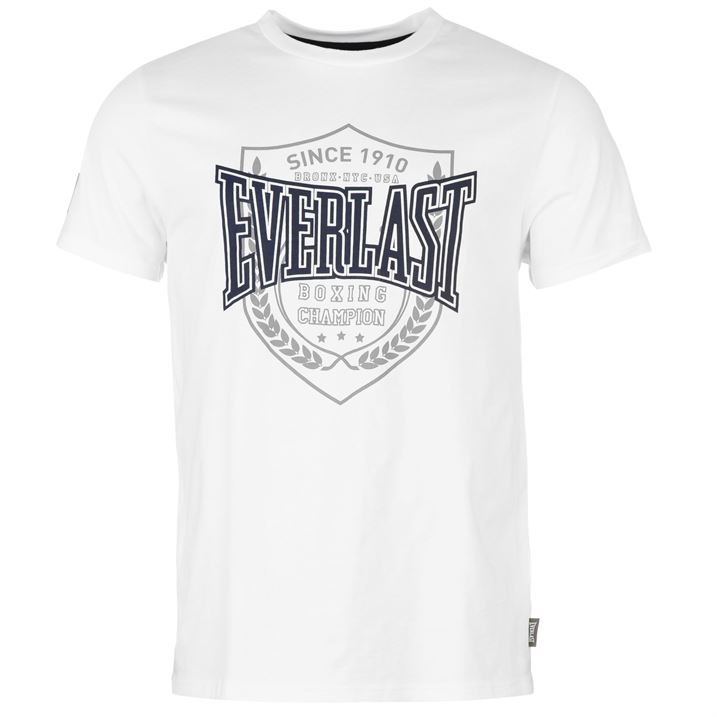 Everlast Printed T Shirt Mens White