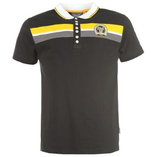 Everlast  Polo Shirt Mens Black/Yellow