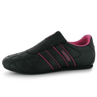 Slazenger Ladies Trainers Black/Cerise