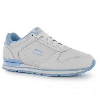 Slazenger Classic Ladies Trainers White/Blue