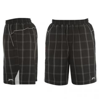 Slazenger Check Shorts Mens Black