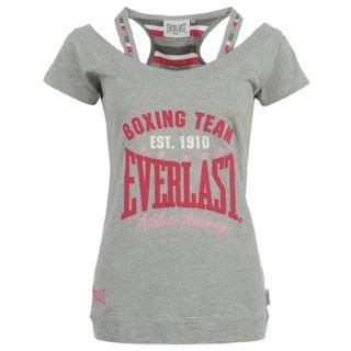 Everlast T Shirt Ladies Grey