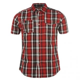 Lee Cooper Zip Pocket Shirt Mens Red