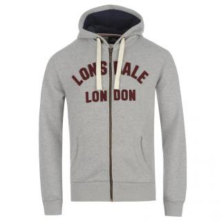 Lonsdale LL Zip Thru Mens Grey