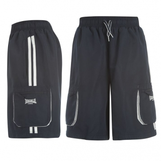 Lonsdale 2 Stripes Cargo Short Mens Navy/White