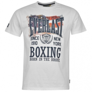 Everlast Heritage T Shirt Mens White 3185