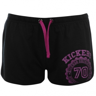 Kickers Print Shorts Ladies Black