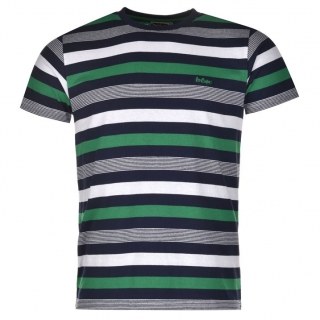 Lee Cooper Stripe T Shirt Mens Navy