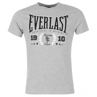 Everlast T Shirt Mens Grey