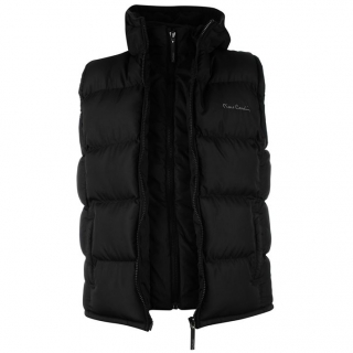 Pierre Cardin Zip Gilet Mens Black