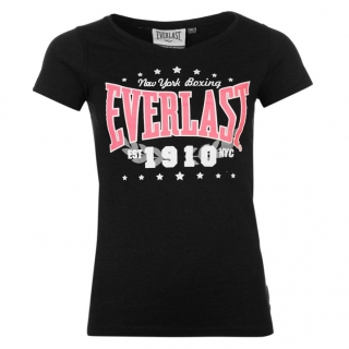 Everlast Logo TShirt Womens Black 1910