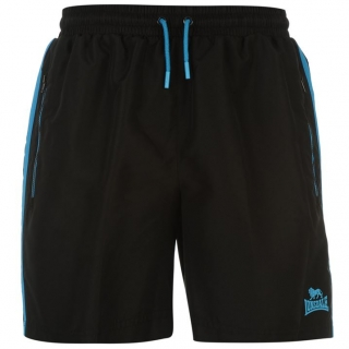 Lonsdale Shorts Mens Black/Blue