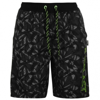 Everlast Geo Shorts Mens Black