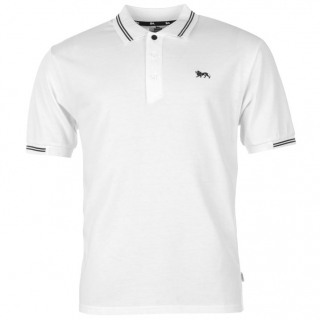 Lonsdale Lion Polo Shirt Mens White