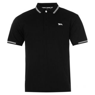 Lonsdale Lion Polo Shirt Mens Black