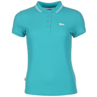 Lonsdale Lion Polo Shirt Ladies Teal