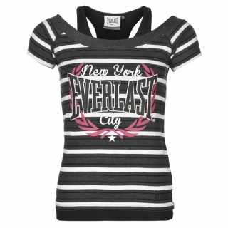 Everlast Mock Layer T Shirt Ladies Charc