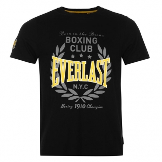 Everlast Printed T Shirt Mens Black