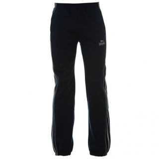 Lonsdale 2 Stripe Joggers Mens Navy/Grey