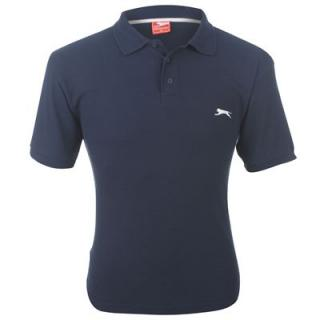Slazenger Plain Polo Shirt Mens Navy