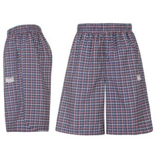 Lonsdale Checked Shorts Mens Navy/W/R