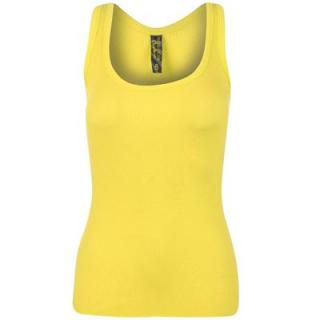 Miss Fiori Basic Vest Ladies Yellow