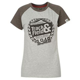 Track and Field LL T-shirt Ladies Grey