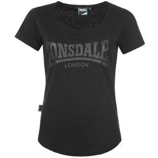 Lonsdale 2S Crew T Shirt Ladies Black
