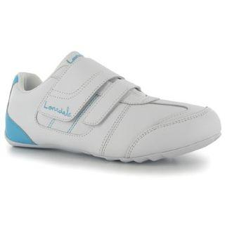 Lonsdale Chelsea Trainers Ladies White/Blue