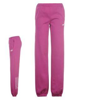 Puma Logo Fleece Pants Ladies Clover