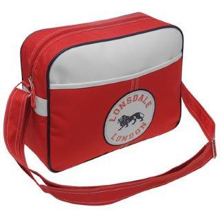 Lonsdale Badge Flight Bag Red/Navy