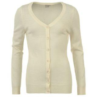 Miss Fiori Essential Cardigan Ladies Ecru